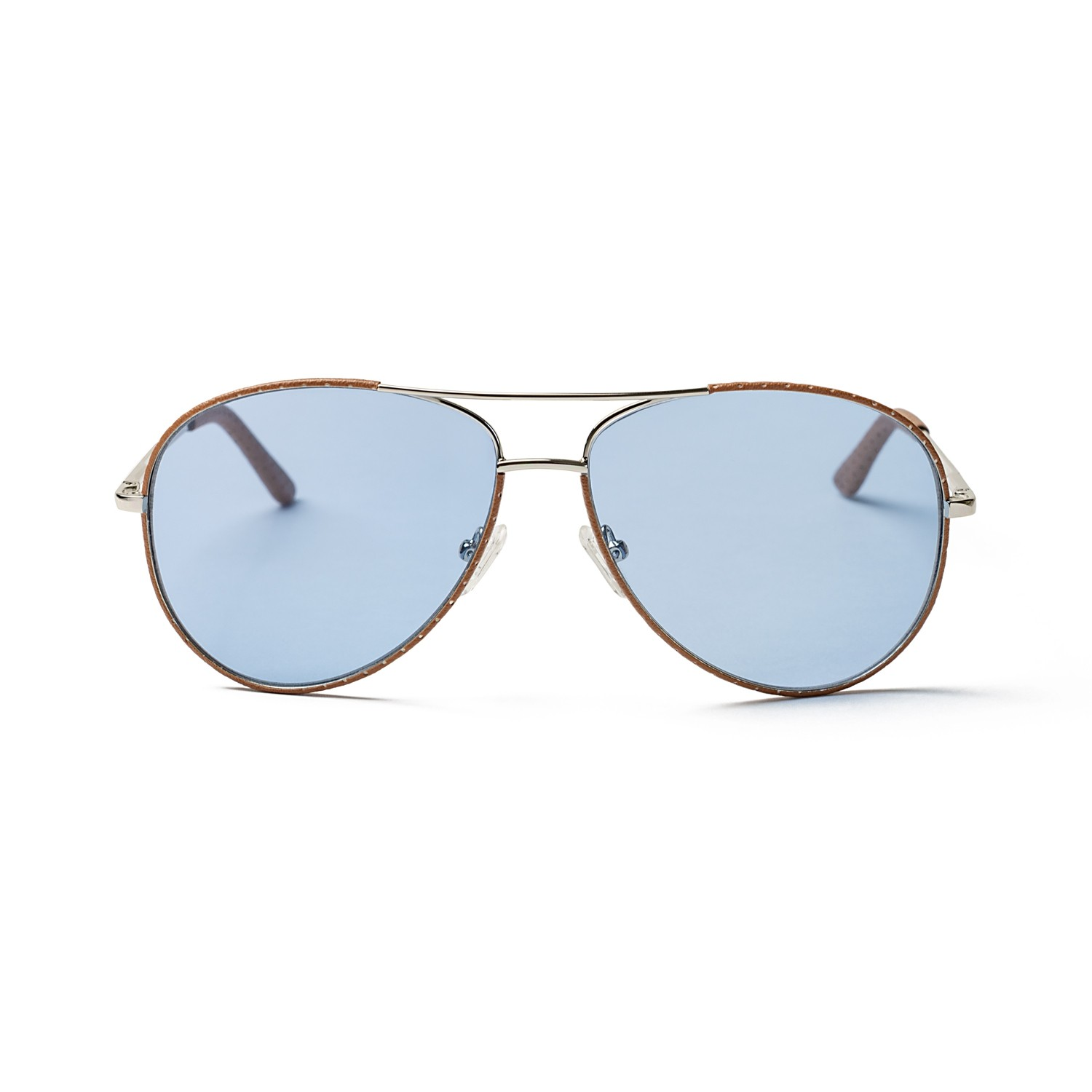 FIENNES SILVER FRAME AND BLUE LENS