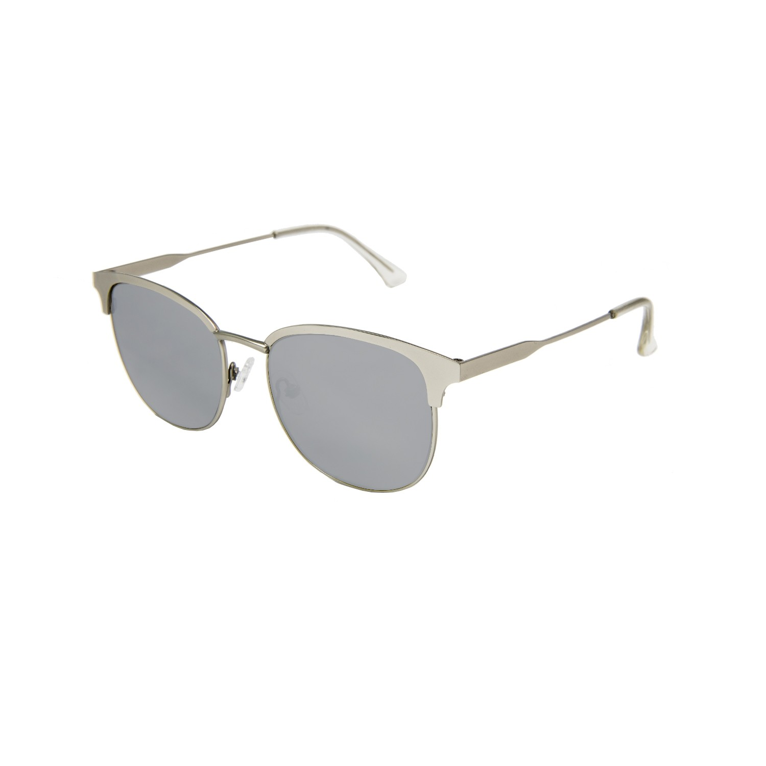 MADISON shiny silver frame with flat silver lens