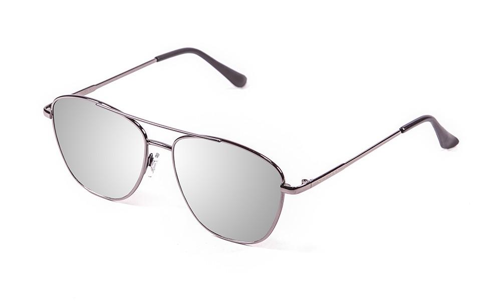 gafas de sol sunpers sunglasses modelo san francisco aviador montura metal plateado lente plata espejo
