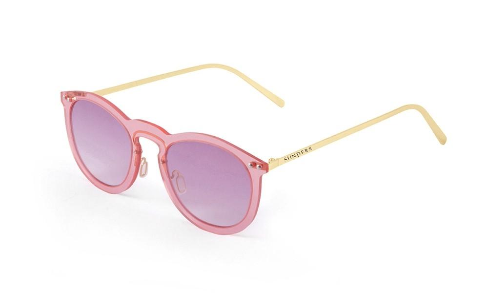 Gafas de Sol - Rosa transparente/ patilla dorada | SUNPERS