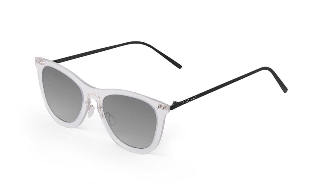 Gafas de sol - blanco transparente/ patilla negra metálica| SUNPERS