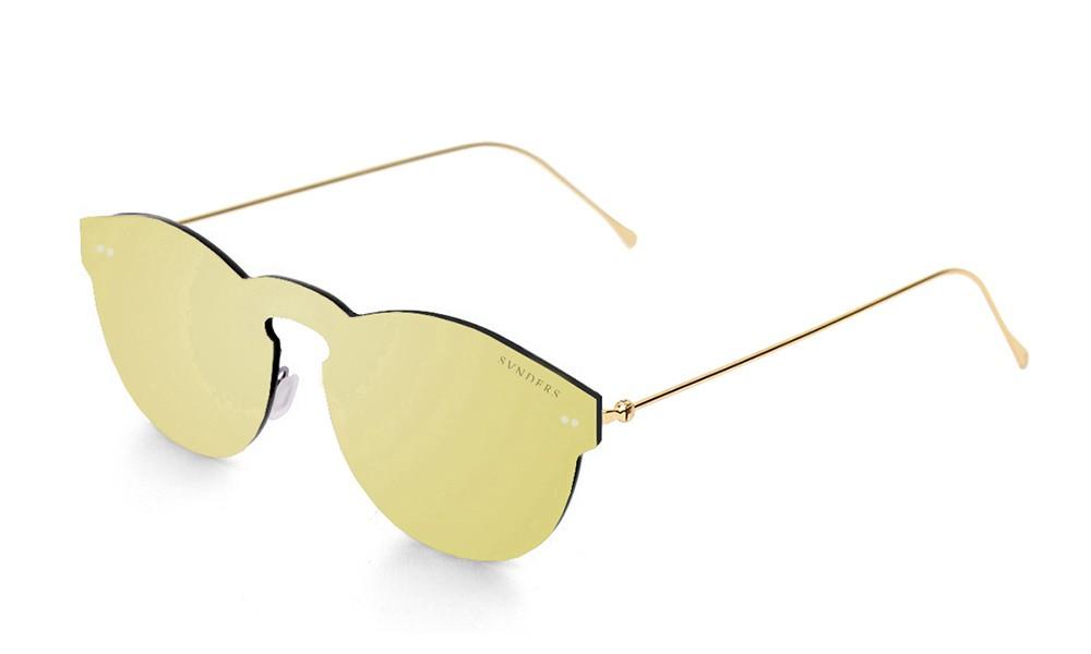 Biarritz - Metal lente plana / dorado metálico / dorada (gafas)