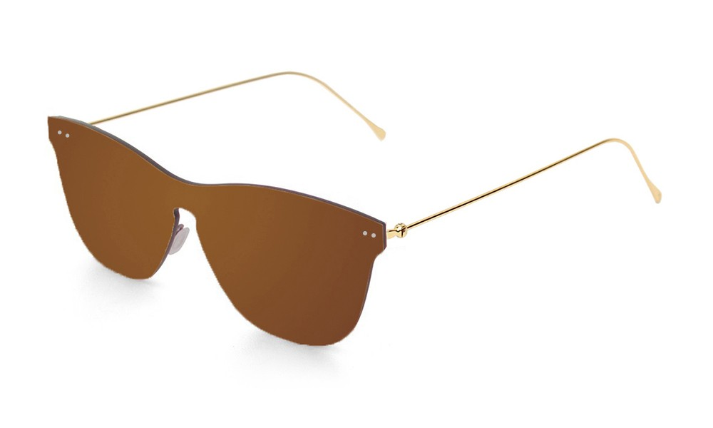 Space flat revo brown lens with metal gold temple