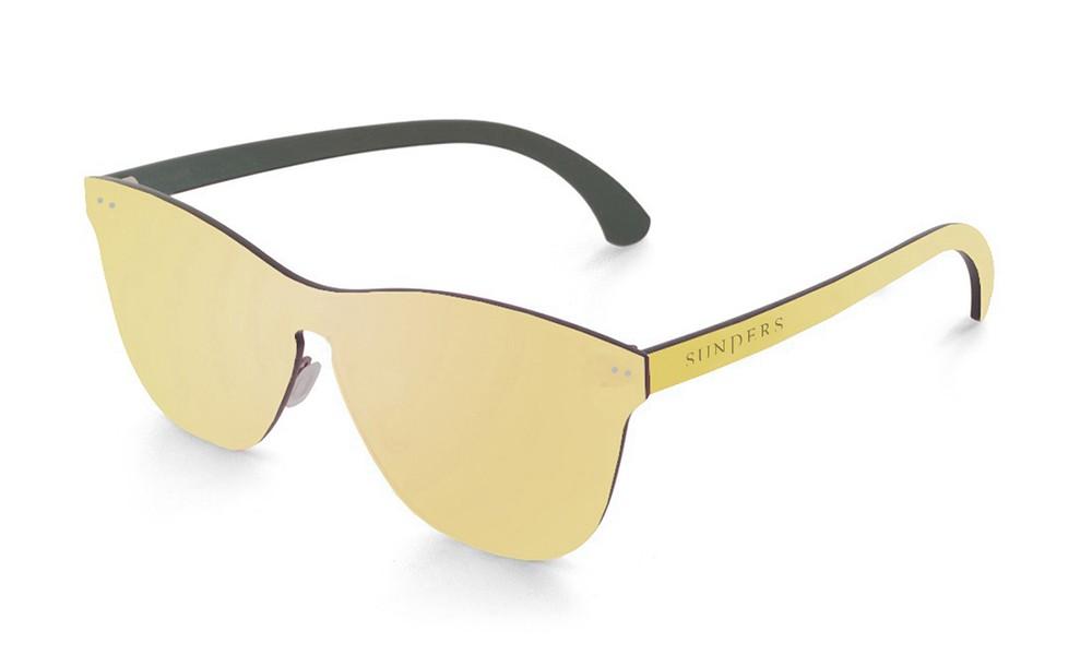 Gafas de sol SUNPERS modelo San Francisco lente plana espacial dorada frontal