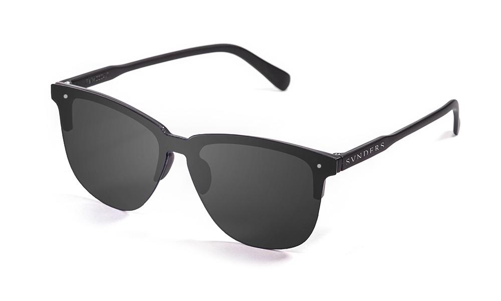 San Francisco - Lente plana clubmaster / negro mate / ahumada (gafas)