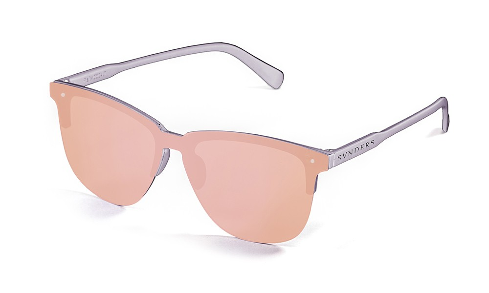 San Francisco - Lente plana clubmaster / revo / mate gris / rosa (gafas)