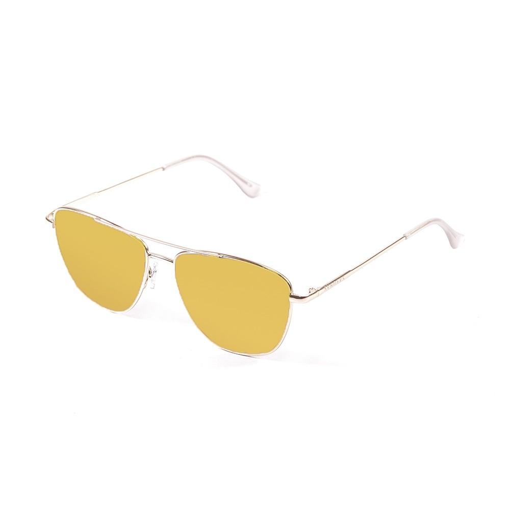 gafas de sol sunpers sunglasses modelo san francisco aviador montura metal dorado lente amarilla