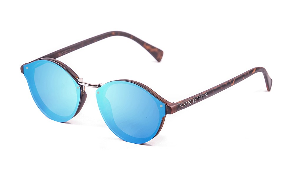 matte demy brown, revo sky blue flat