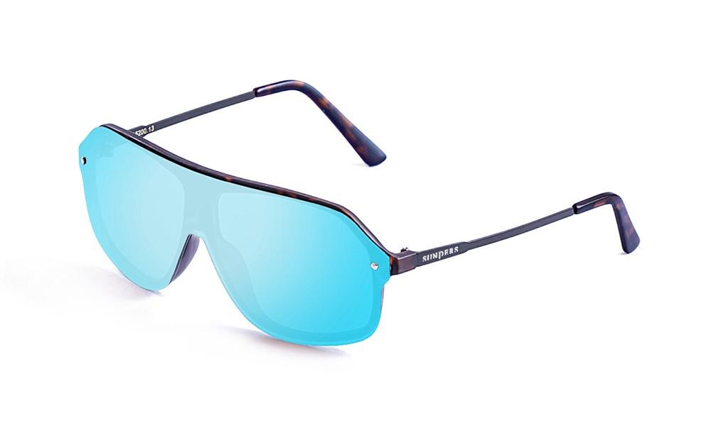 Biarritz - Miami / carey - azul espejo plana (gafas)