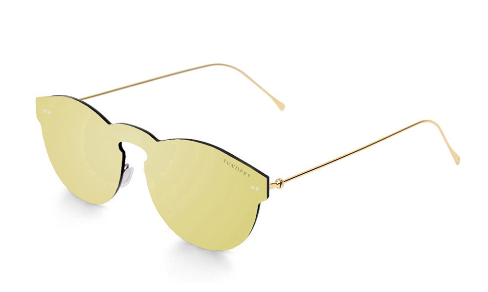 Space flat revo gold lens with metal gold temple