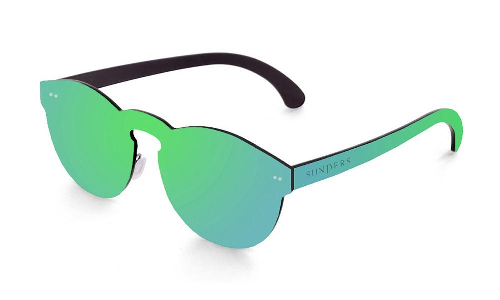 Biarritz - lente plana espacial / verde (gafas)