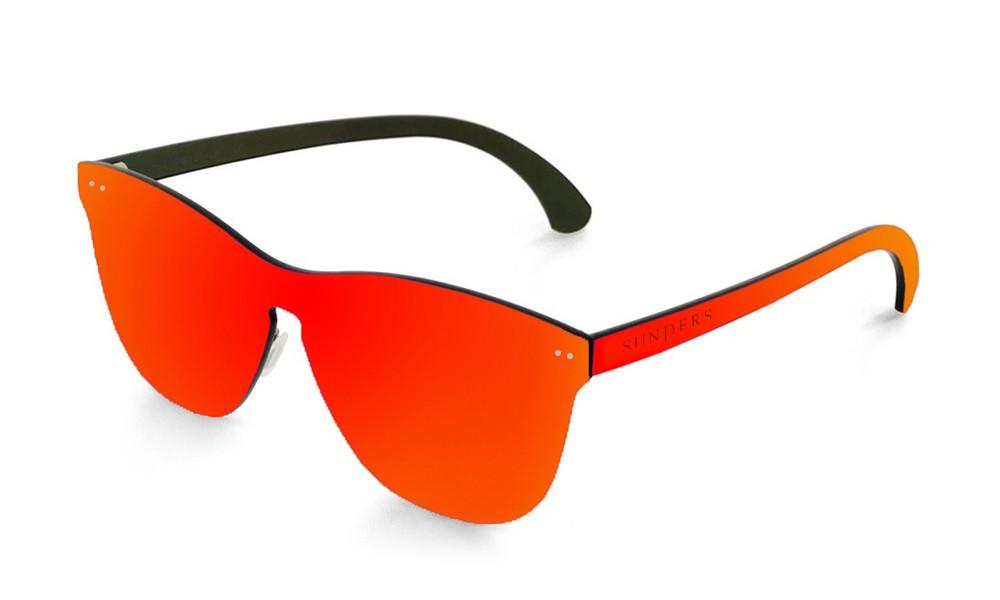 Gafas de sol SUNPERS modelo San Francisco lente plana espacial roja frontal