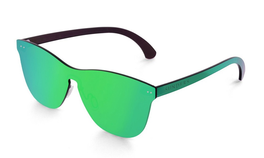 Gafas de sol SUNPERS modelo San Francisco lente plana espacial verde frontal