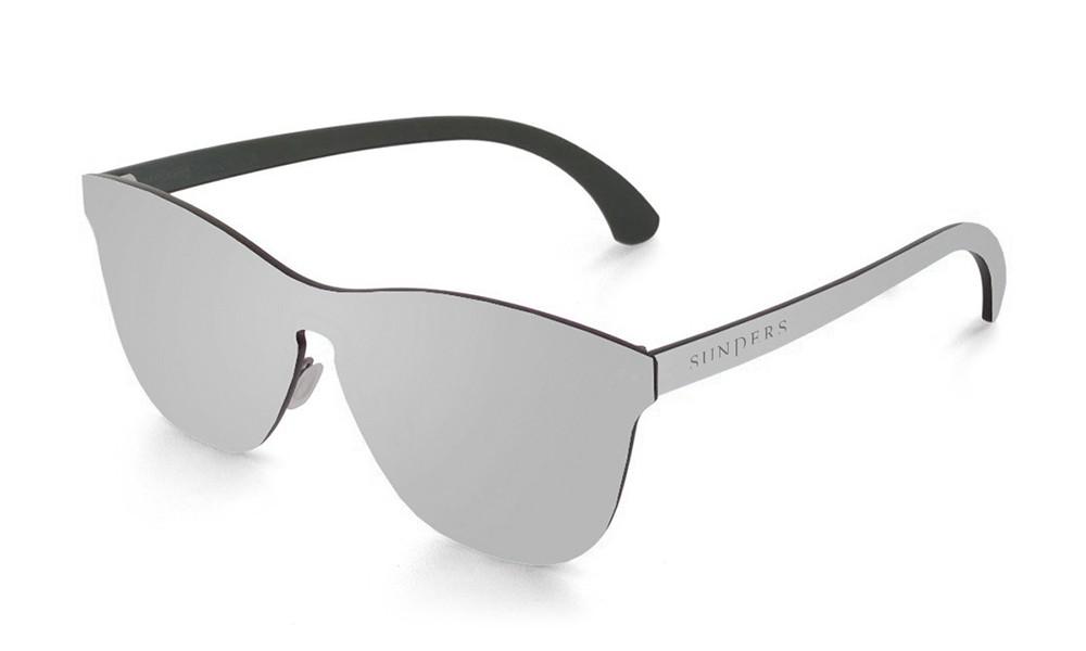 Gafas de sol SUNPERS modelo San Francisco lente plana espacial plata