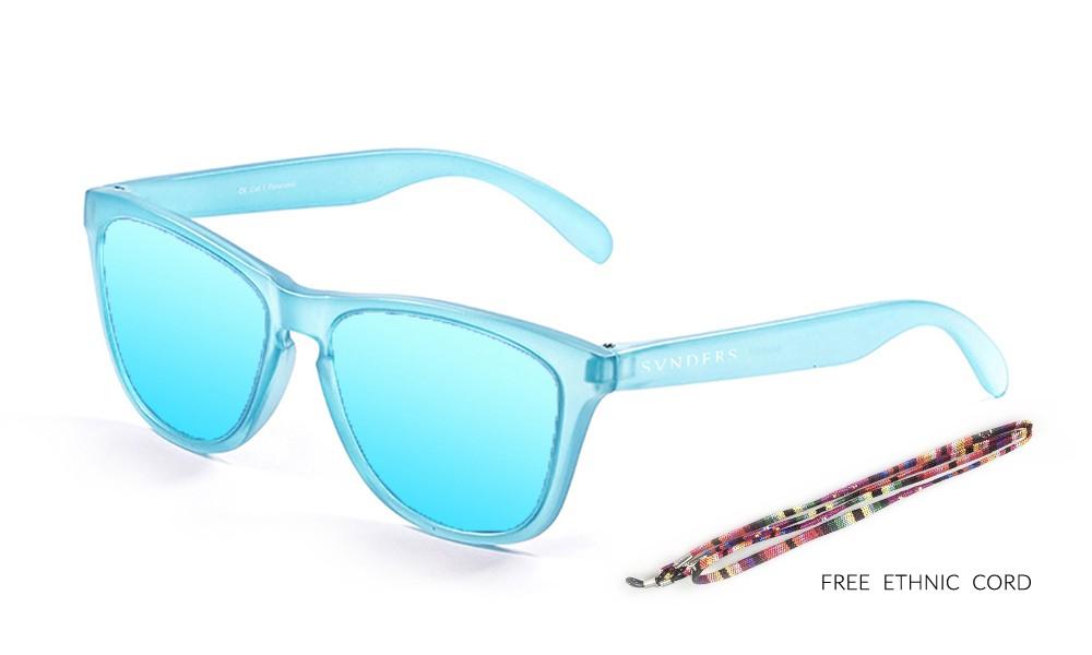 America classic gafas de sol marco azul cielo transparente  lente azul cielo pequeña thumbnail