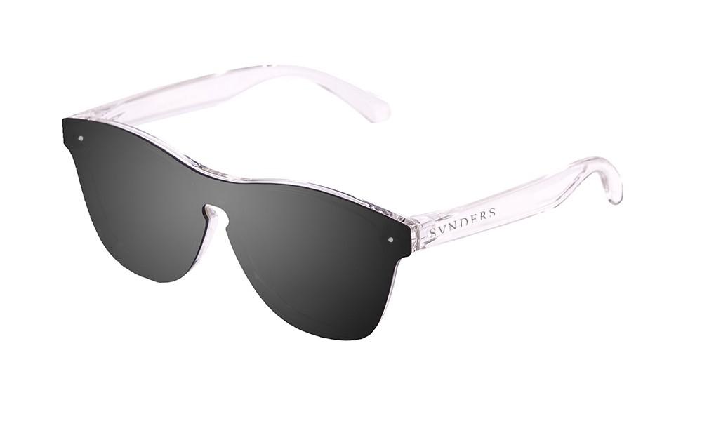 Gafas de sol SUNPERS modelo San Francisco montura de policarbonato blanco mate transparente lente negra