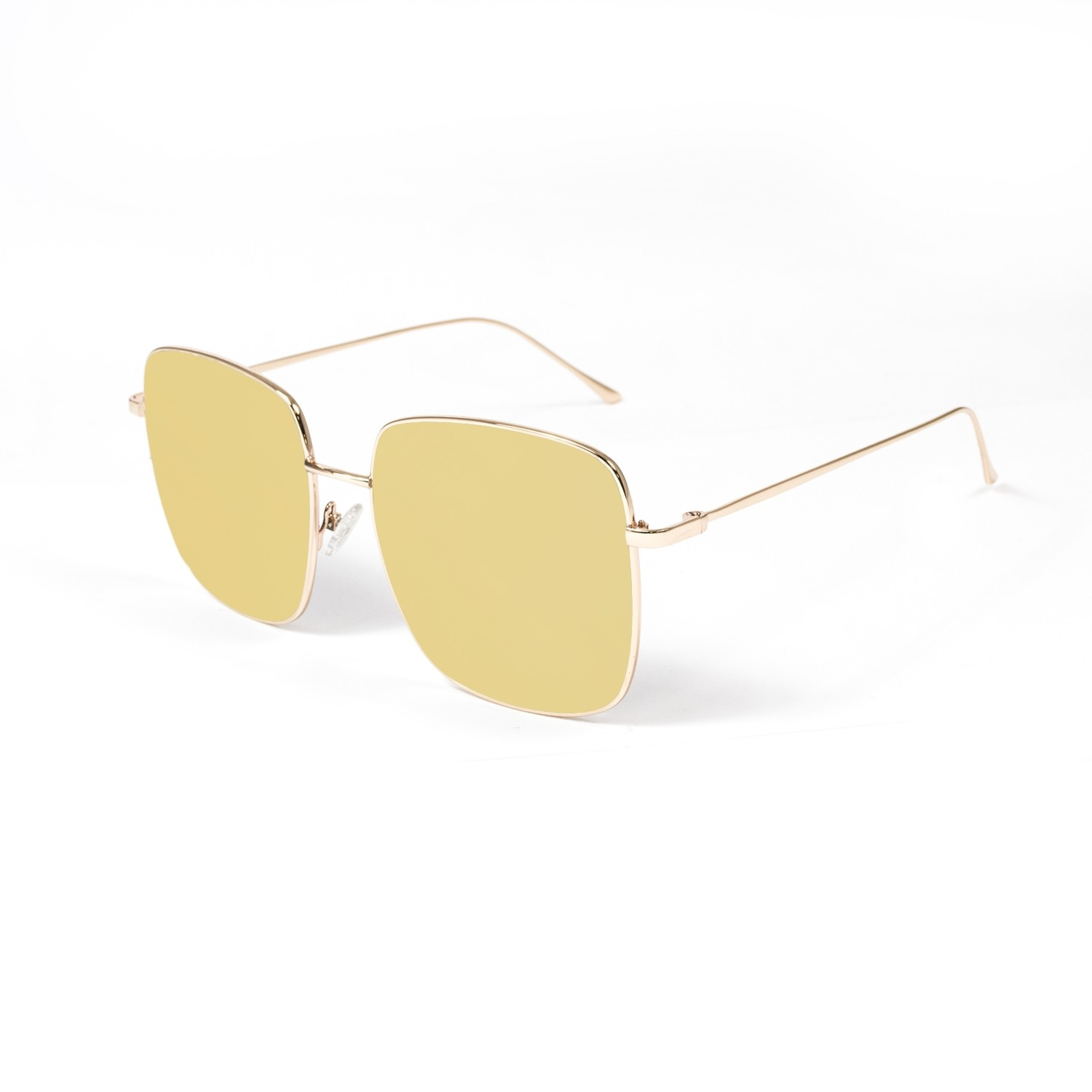 DOROTHY shiny gold frame with flat revo gold lens