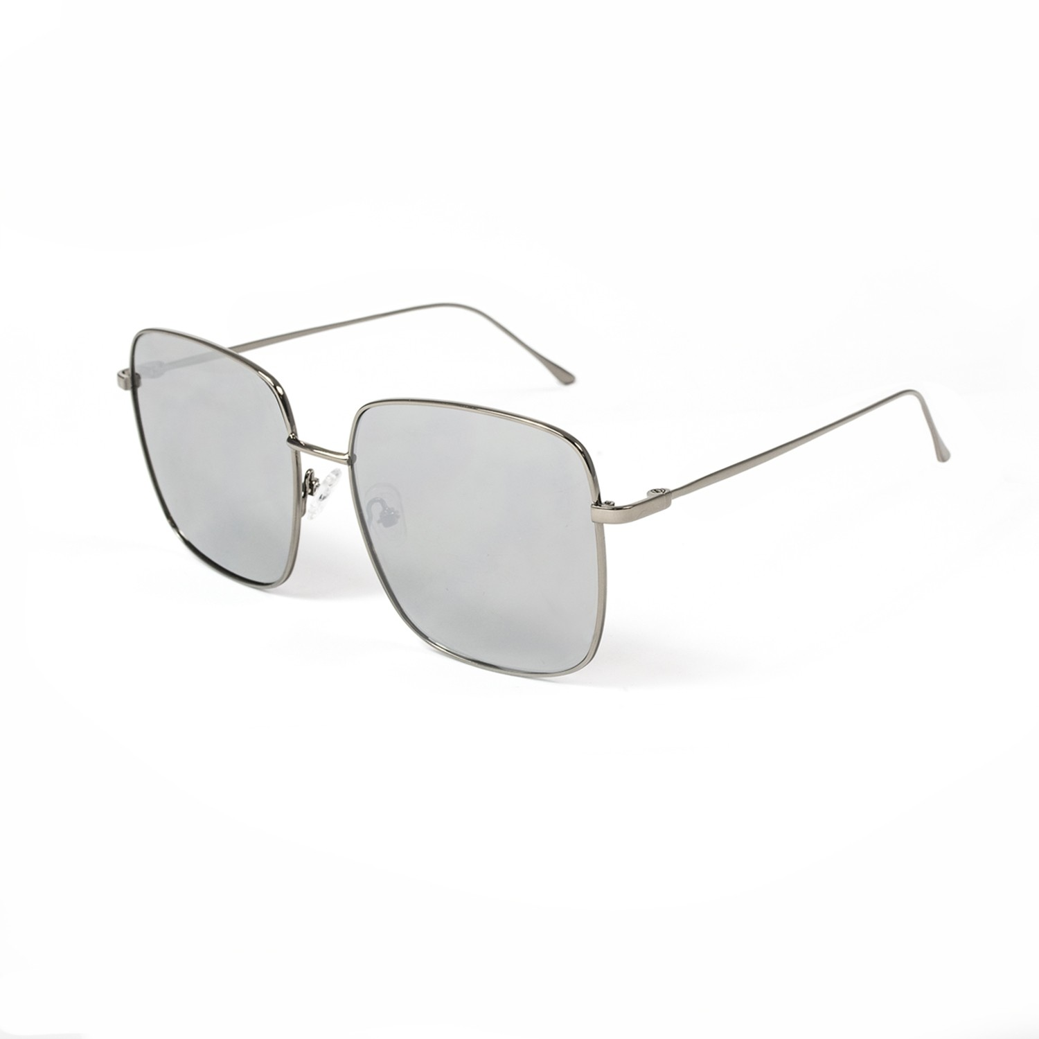 DOROTHY shiny silver frame with flat silver len