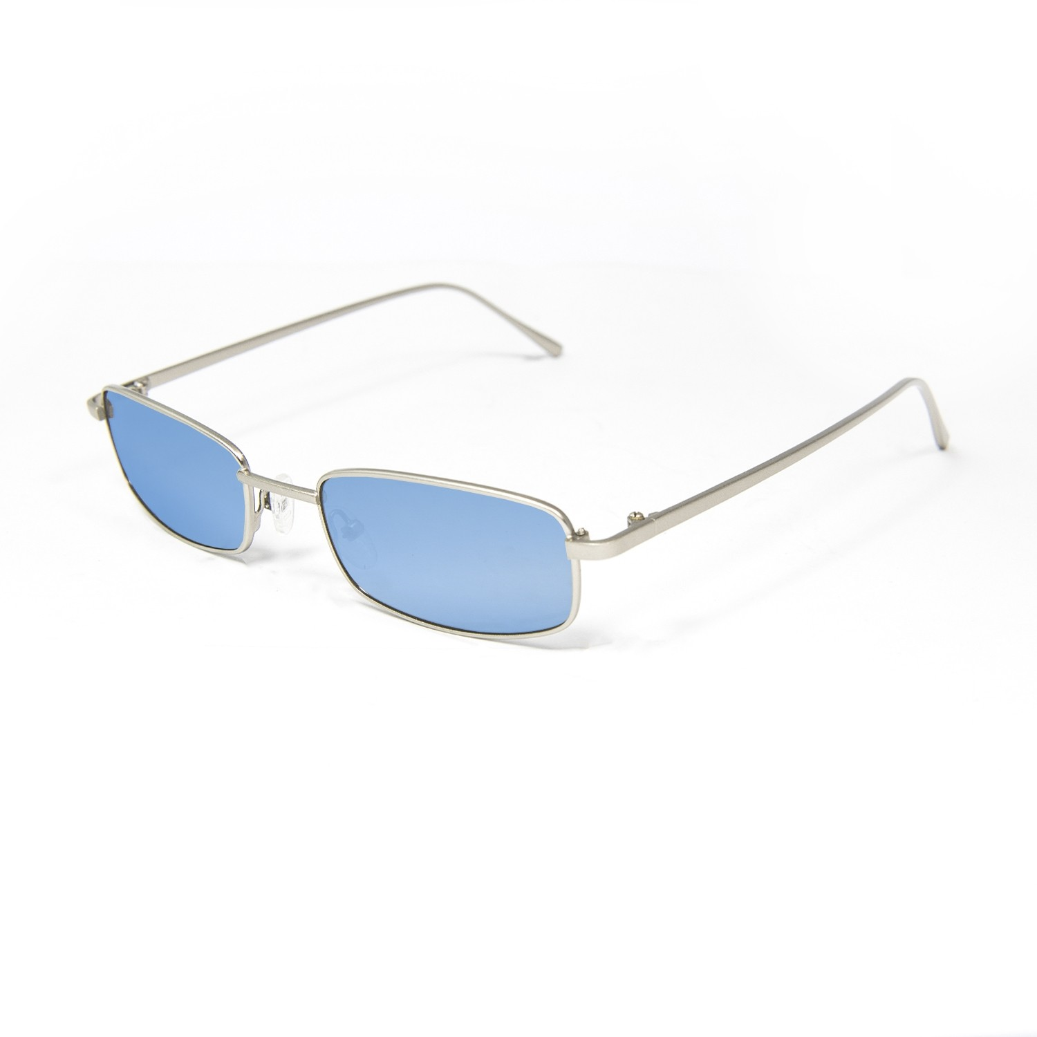 DYLAN silver metal frame with blue light transparent color