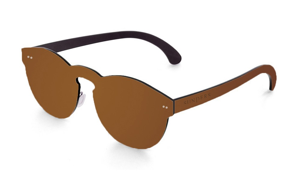 Biarritz - lente plana espacial / marrón (gafas)