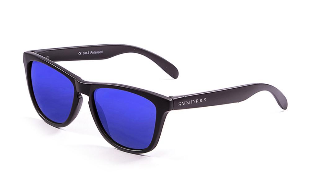 America classic gafas de sol marco negro lente azul espejo thumbnail