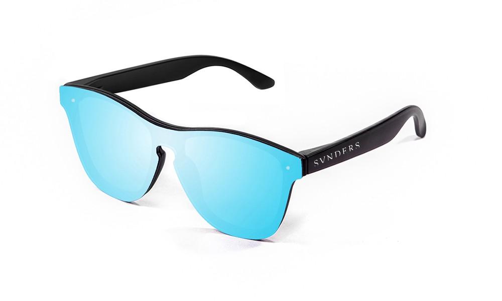 Gafas de sol SUNPERS modelo San Francisco montura de policarbonato negra lente azul cielo