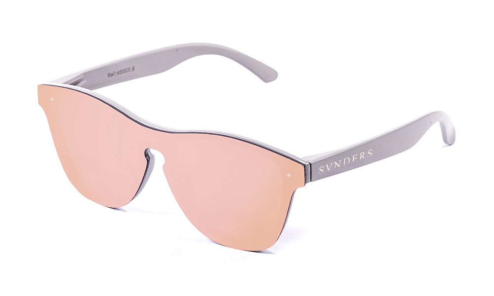 Gafas de sol SUNPERS modelo San Francisco montura de policarbonato gris mate lente rosa espejo