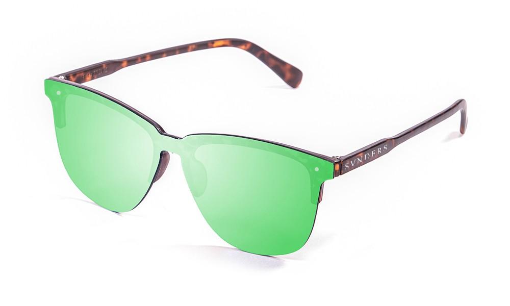 SUNPERS America clubmaster gafas de sol lente plana verde pequeña