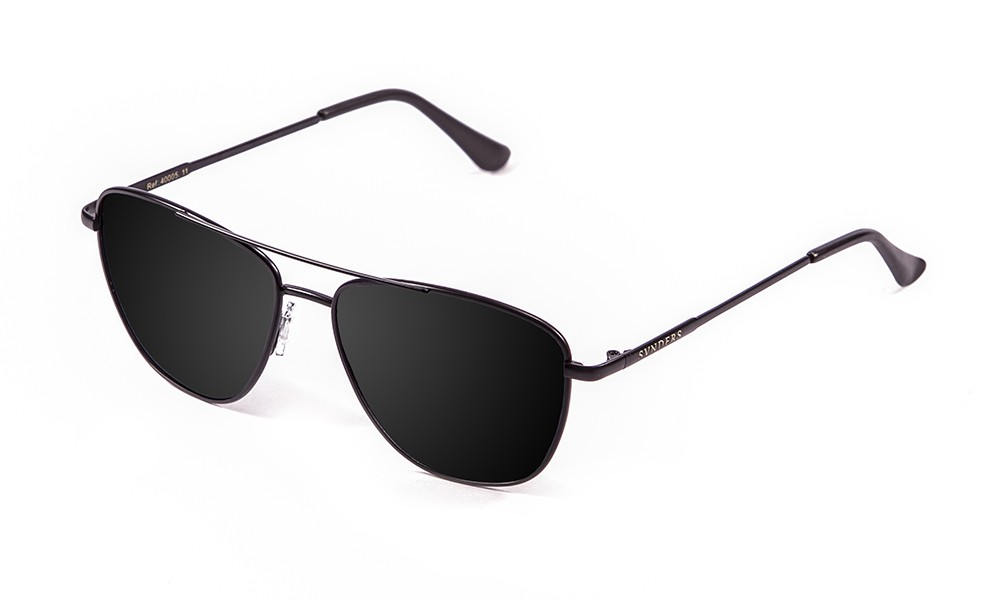 gafas de sol sunpers sunglasses modelo san francisco aviador montura metal negro lente ahumada