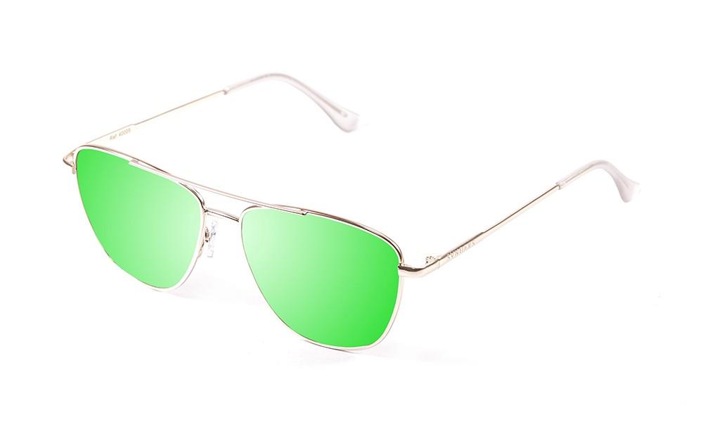 gafas de sol sunpers sunglasses modelo san francisco aviador montura metal dorado lente verde espejo