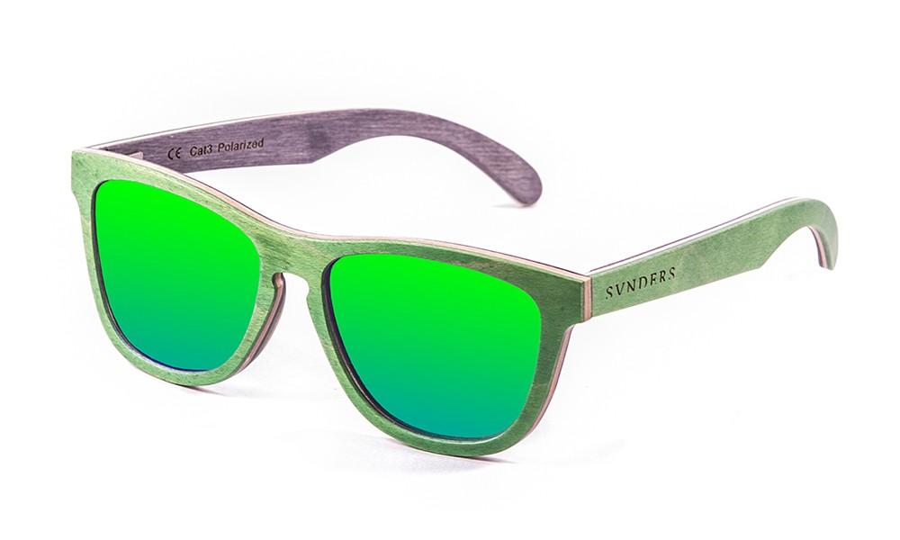 San Francisco gafas de sol de madera de skate verde pequeña