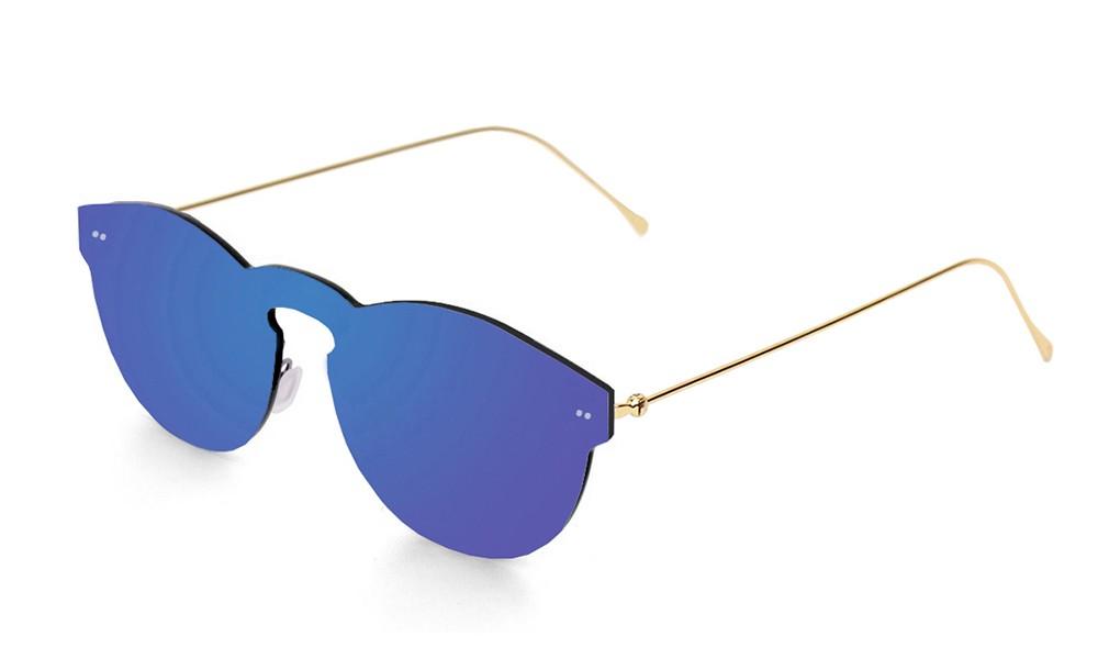 Biarritz - Metal lente plana / dorado metálico / azul (gafas)