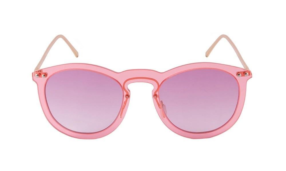 Sunglasses - Transparent pink/ metal gold temple | SUNPERS