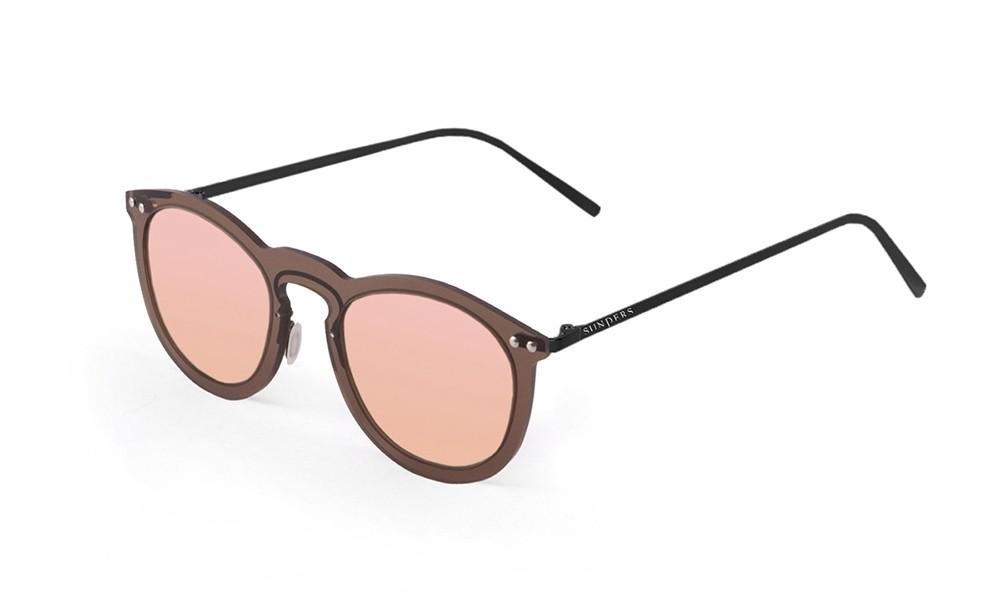 Sunglasses - transparent brown/ metal black temple | SUNPERS