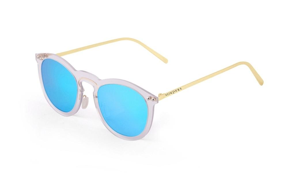 Sunglasses - transparent white/ metal gold temple | SUNPERS
