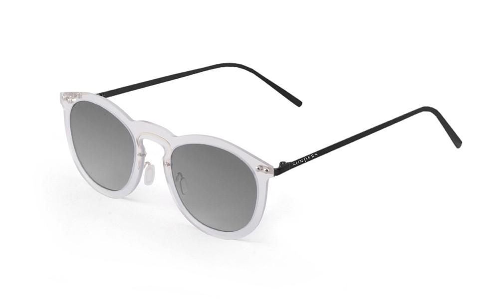 Sunglasses - transparent white/ metal black temple | SUNPERS
