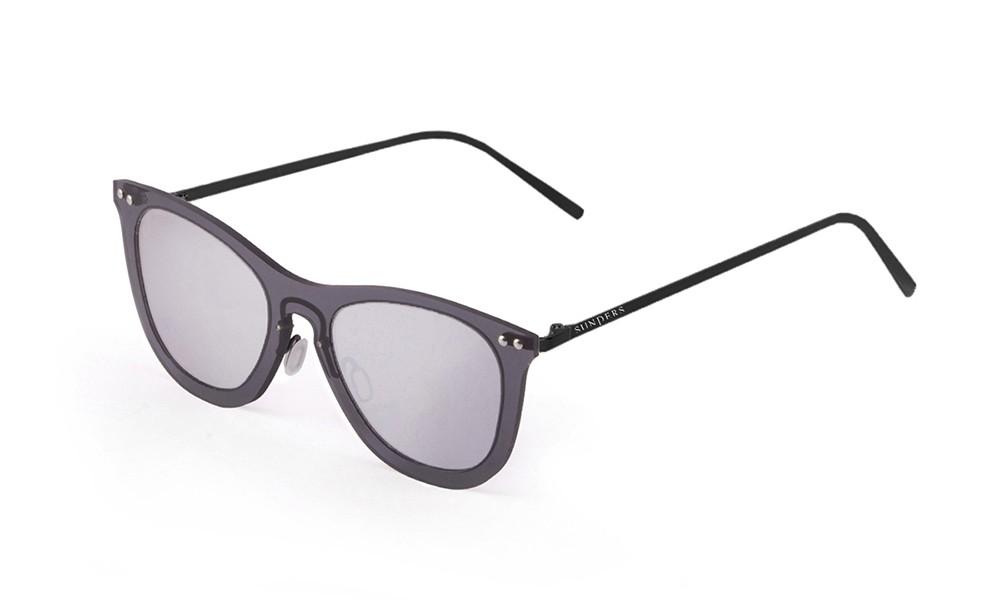 Sunglasses - transparent black/ metal black temple | SUNPERS