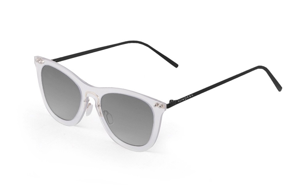 Sunglasses - transparent white/ metal black temple | SUNPERS