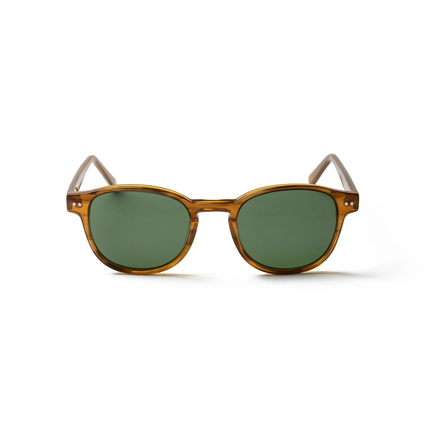 PAXTON BROWN FRAME AND GREEN LENS