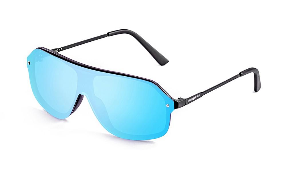 Biarritz - Miami / negro mate - azul cielo plana (gafas)