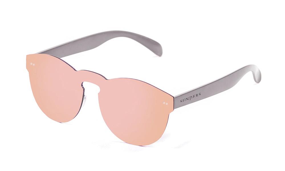 Gafas de sol SUNPERS modelo Biarritz lente plana y policarbonato lente rosa espacial patillas policarbonato gris mate