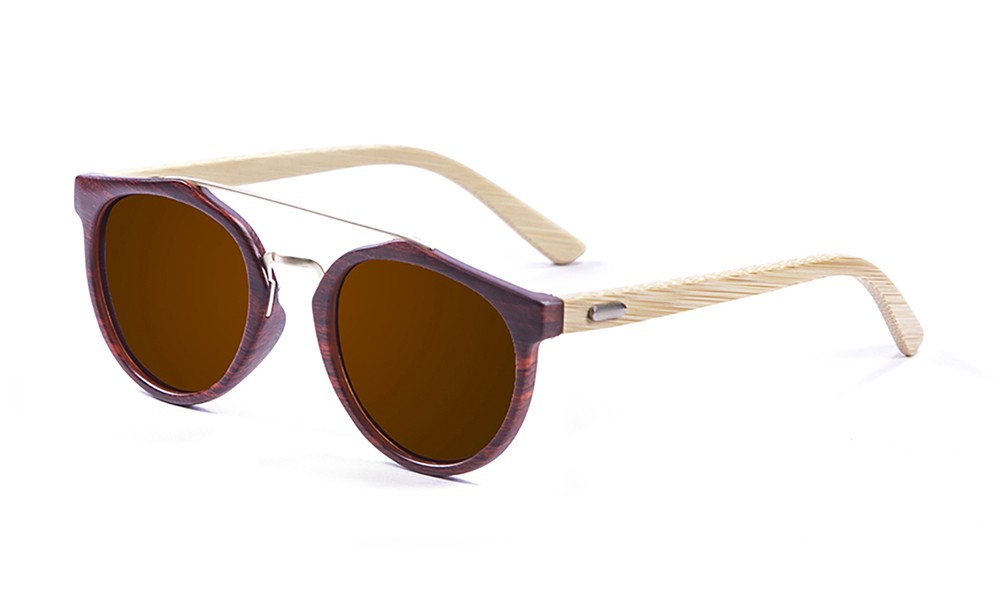 bamboo natural, brown, smoked lens