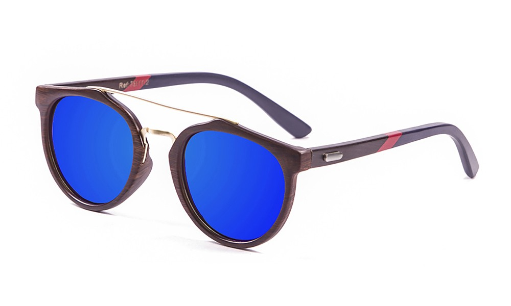bamboo brown, brown dark, revo blue with red / blue dark arm